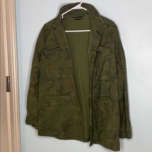 topshop us 6 army green camo jacket